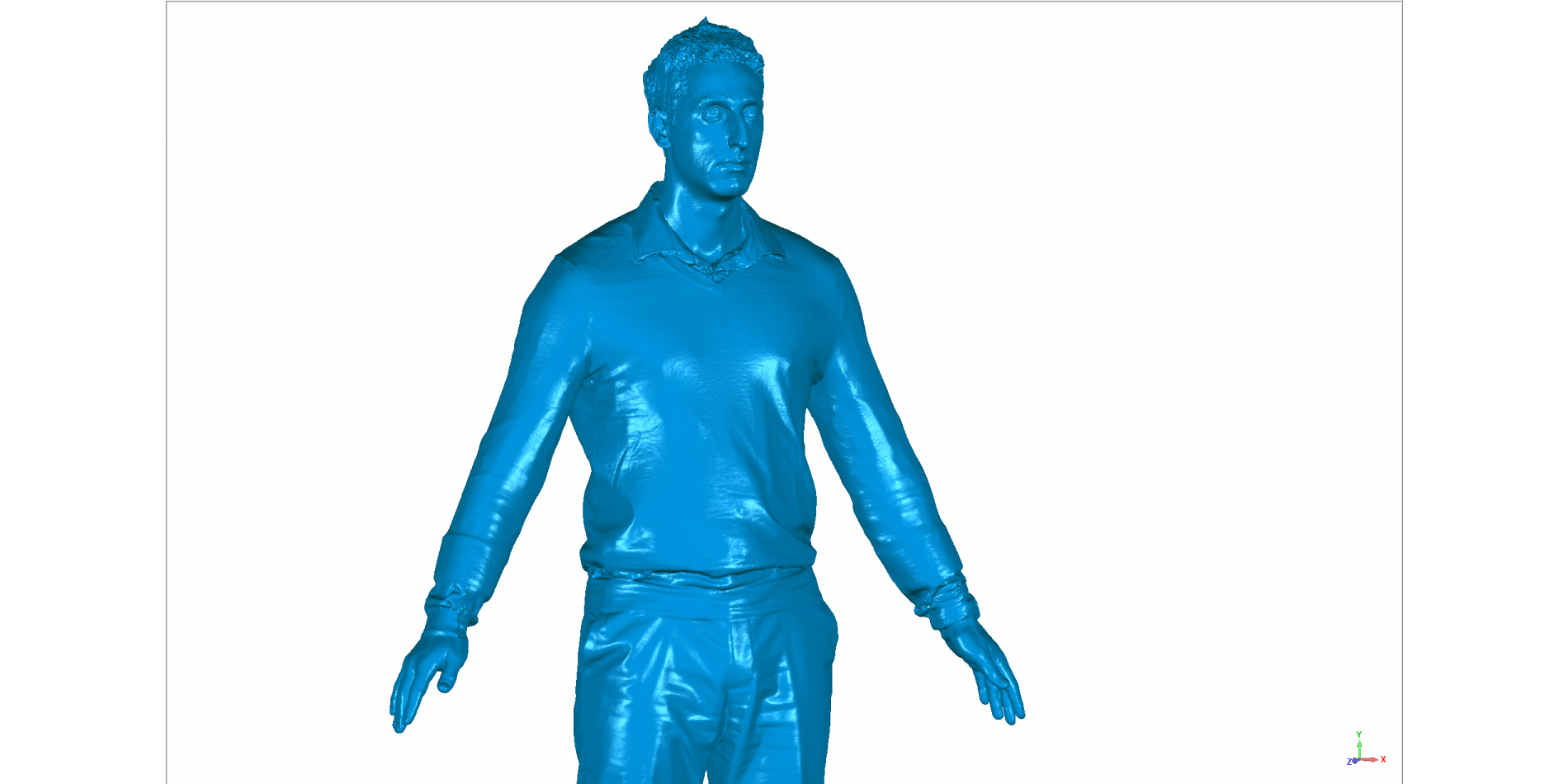 Cyber body scanning for 3d models of people