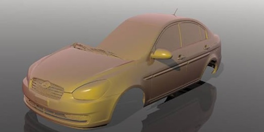 accurate 3d model of a car